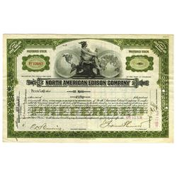 North American Edison Co., 1928 Stock Certificate ITASB Ed Wynn.