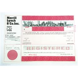 Merrill Lynch & Co. Inc., 1989 Specimen Bond