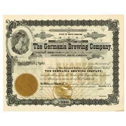 Germania Brewing Co., ca.1880-1900 Remainder Stock Certificate.
