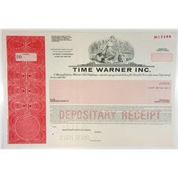 Time Warner Inc., 1990 Specimen ADR Stock Certificate