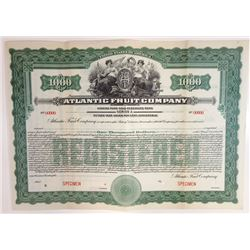 Atlantic Fruit Co., 1919 Specimen Bond
