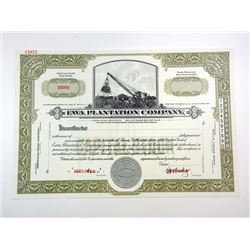 Ewa Plantation Co., ca.1950-1960 Specimen Stock Certificate