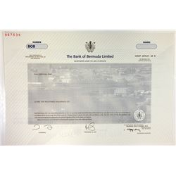 Bank of Bermuda, 2001 Specimen Stock Certificate
