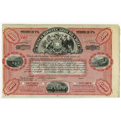 Banco Hipotecario De Chile, 1900-1910 Specimen Bill of Credit Circulating Bond.