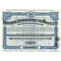 Compagnie Internationale des Wagons-Lits, 1927 Issued Bond