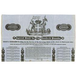 Special Bond for the Service of the Sovereign Order of St. John of Jerusalem (Malta) 1823 Remainder