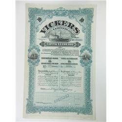 Vickers Limited 1900-1910 Bond Specimen.
