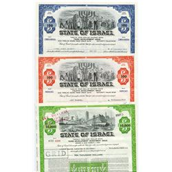 State of Israel Issued Bond Group 1967-1971.