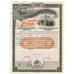 Banco Internacional e Hipotecario De Mexico, 1905 Specimen bond.