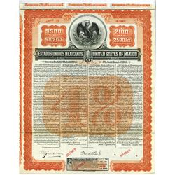 Estados Unidos De Mexico - United States of Mexico, 4% Gold Bond of 1904 Specimen Bond.