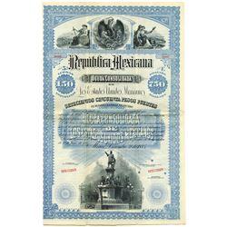 Republica Mexicana, Deuda Consolidada De Los Estados Unidos Mexicanos, 1885 Specimen Bond.