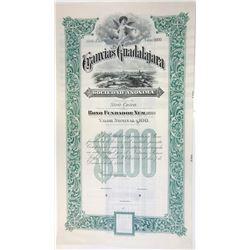 Tranvias de Guadalajara, 1899 Specimen Bond