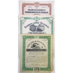Trio of Issued Mexican Bonds, 1899-1921