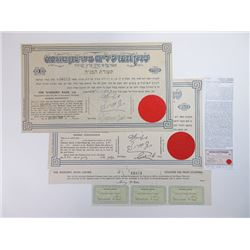 Bank Hapoalim ca.1922-1926 Pair of Issued Bonds