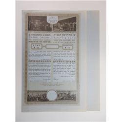 S. Freidman & Sons Carmel Original, ca.1920s Unissued Bond