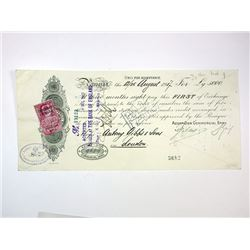 Azoff-Don Commercial Bank, 1917 Cancelled Certificate