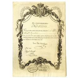 Real Caja de Amortizacion, 1825 Issued Spanish Bond.