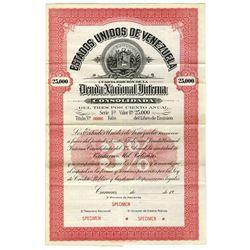 Estados Unidos de Venezuela Deuda Nacional Interna,  19xx (ca.1920) Specimen Bond