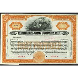 Remington Arms Co., 1920's Specimen Stock Certificate.