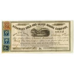 Stranger Gold and Silver Mining Co. 1865 Nevada Stock Certificate.