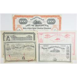 Cancelled Stock and Bond Certificate group, ca.1890-1910