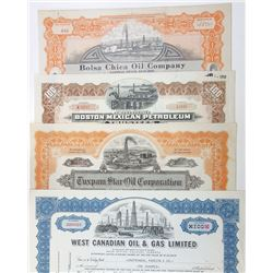 Oil and Tobacco Stock Certificate Assortment. ca.1914-1987