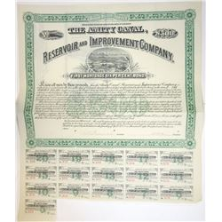 Amity Canal, Reservoir and Improvement Co., 1891 I/U Bond Signed by Charles H. Dow as Trustee.
