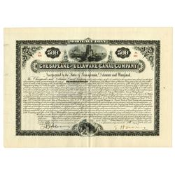 Chesapeake & Delaware Canal Co., 1887 Pair of Certificates