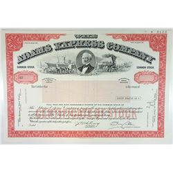 Adams Express Co., 1986 Specimen Stock Certificate