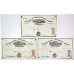 Lehigh Coal & Navigation Co. 1869-1870 Issued Trio of Certificates
