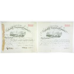 Schuylkill Navigation Co., 1883 Pair of Certificates