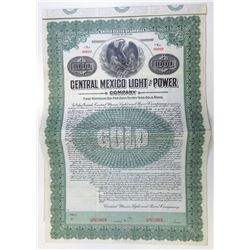 Central Mexico Light & Power Co., 1910 Specimen Bond
