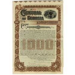 Central of Georgia Railway Co., 1895 Cancelled Bond