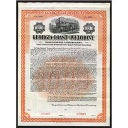 Georgia Coast and Piedmont Railroad Co., 1907 Specimen Bond