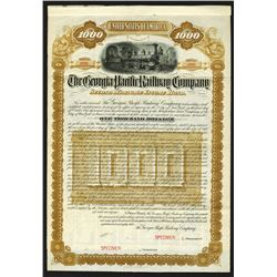 Georgia Pacific Railway Co., 1883 Specimen Bond