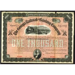 Georgia Railroad and Banking Co., 1897 Specimen Bond