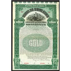 Georgia and Alabama Railway, 1895 Specimen Bond