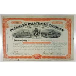 Pullman's Palace Car Co., 1881 Cancelled Stock Certificate signed by Horace Porter