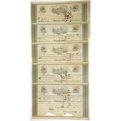 Baltimore & Ohio Rail Road Co., 1851 Group of Cancelled Stock Certificates