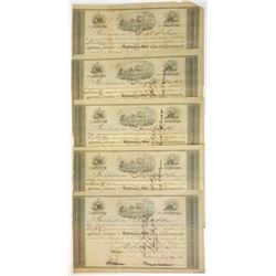 Baltimore & Ohio Rail Road Co., 1852 Group of Cancelled Stock Certificates