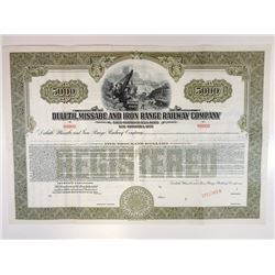 Duluth, Missabe & Iron Range Railway Co., 1912 Specimen Bond