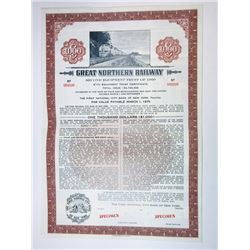 Great Northern Railway 2nd Equipment Trust, 1960 Specimen Bond