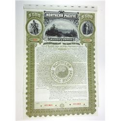 Northern Pacific Railway Co., 1896 Specimen Bond