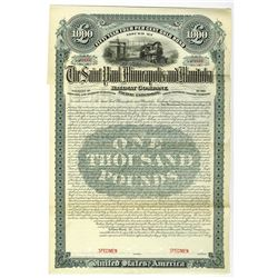Saint Paul, Minneapolis and Manitoba Railway Co., 1890 Specimen Bond
