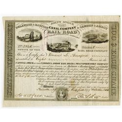 Joint Stock of the  Delaware & Raritan Canal Co / Camden & Amboy Rail Road & Transportation Co., 185