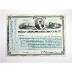 New York Central Railroad Co., ca.1900-1920 Specimen Stock Certificate