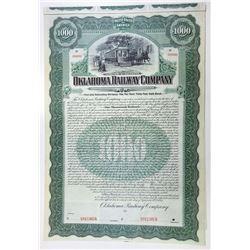 Oklahoma Railway Co., 1907 Specimen Bond