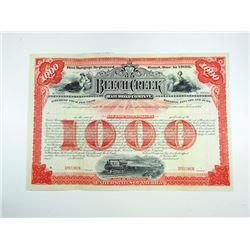 Beech Creek Railroad Co. ca,1900-1910 Specimen Bond