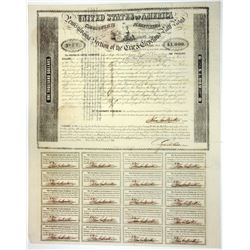 Pennsylvania Section of the Erie & Cleveland Rail Road, 1851 Issued Bond