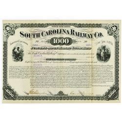 South Carolina Railway Co., 1881 Cancelled Bond